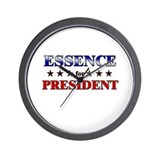 ESSENCE for president Wall Clock