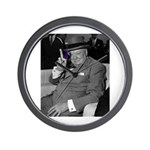 Purple Revolution Churchill 2 Wall Clock