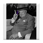 Purple Revolution Churchill 2 Tile Coaster