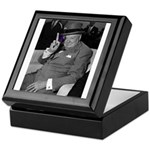 Purple Revolution Churchill 2 Keepsake Box