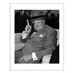 Purple Revolution Churchill 2 Small Poster