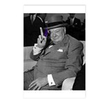 Purple Revolution Churchill 2 Postcards (Package o