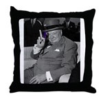 Purple Revolution Churchill 2 Throw Pillow