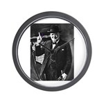 Purple Revolution Churchill 3 Wall Clock