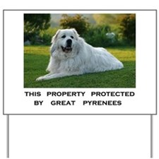 Great Pyrenees Yard Sign
