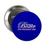 "BARBARA BOXER PRESIDENT 2008 2.25"" Button (10 pack"