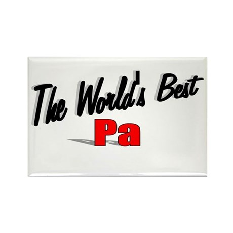 &quot;The World's Best Pa&quot; Rectangle Magnet
