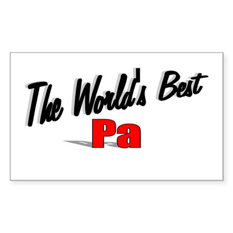 &quot;The World's Best Pa&quot; Rectangle Sticker