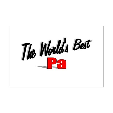 &quot;The World's Best Pa&quot; Mini Poster Print