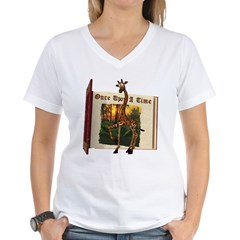 Gerry Giraffe Women's V-Neck T-Shirt