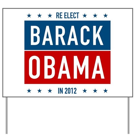 Classic Barack Obama Yard Sign