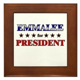 EMMALEE for president Framed Tile