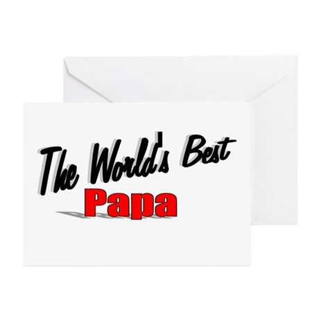 """The World's Best Papa"" Greeting Cards (Pk of 20)"