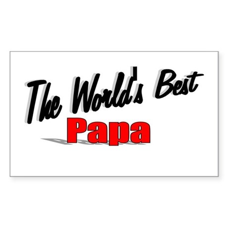 """The World's Best Papa"" Rectangle Sticker"