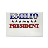 EMILIO for president Rectangle Magnet (10 pack)
