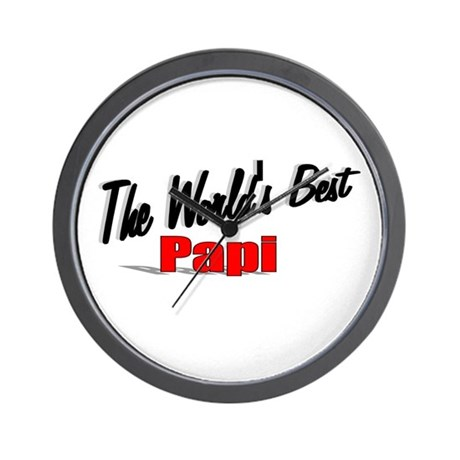 """The World's Best Papi"" Wall Clock"