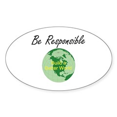 Build a Better World Oval Sticker