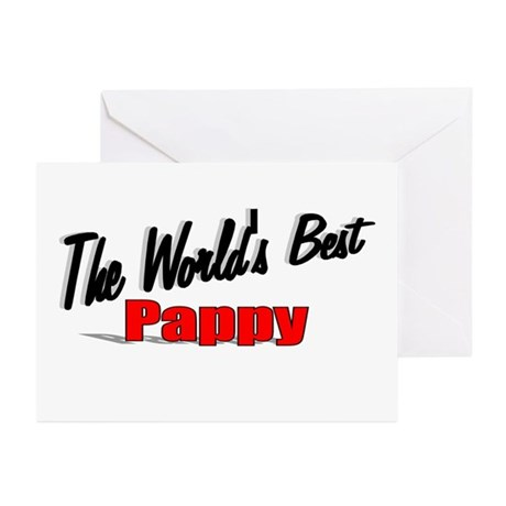 """The World's Best Pappy"" Greeting Cards (Pk of 20)"