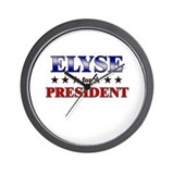 ELYSE for president Wall Clock