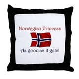 Norwegian Princess Throw Pillow