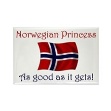 Norwegian Princess Rectangle Magnet
