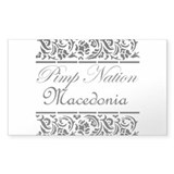 Pimp nation Macedonia Rectangle Decal