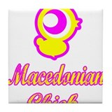 Macedonian Chick Tile Coaster