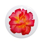 Red Hot Rose Ornament (Round)