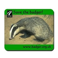 Badgers Forever Badger Mousepad