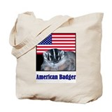 American Badger Tote Bag