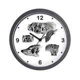 American Badger Wall Clock