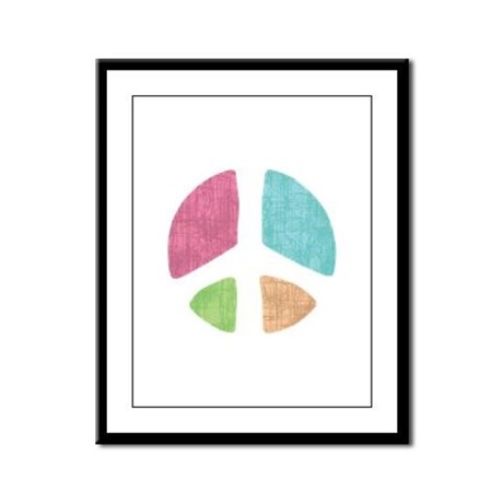 Stencil Peace Framed Panel Print