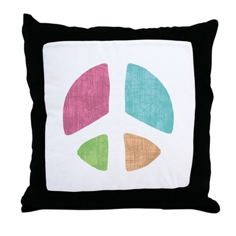 Stencil Peace Throw Pillow