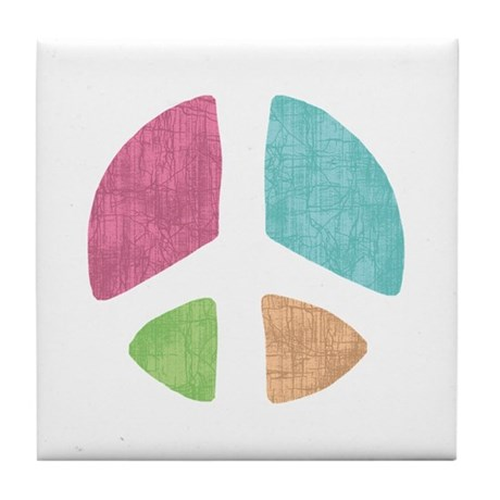 Stencil Peace Tile Coaster