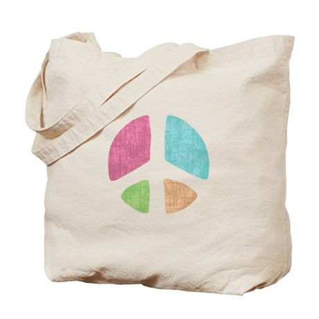 Stencil Peace Tote Bag