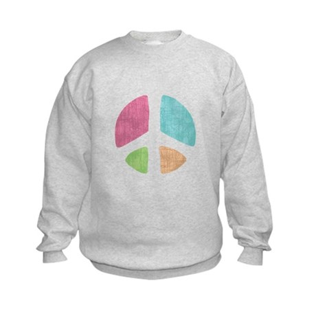 Stencil Peace Kids Sweatshirt