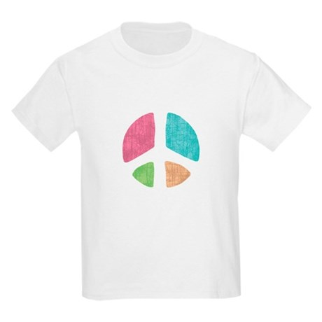 Stencil Peace Kids Light T-Shirt