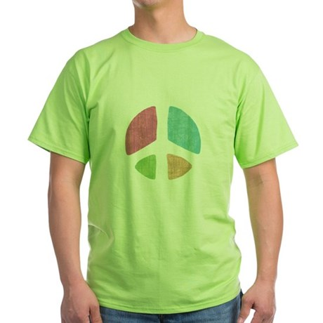 Stencil Peace Green T-Shirt