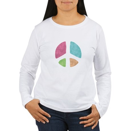 Stencil Peace Women's Long Sleeve T-Shirt