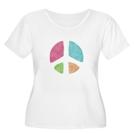 Stencil Peace Women's Plus Size Scoop Neck T-Shirt