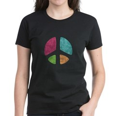 Stencil Peace Women's Dark T-Shirt