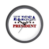 ELISSA for president Wall Clock