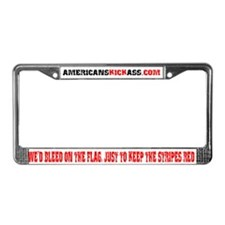 AMERICANS KICK ASS License Plate Frame