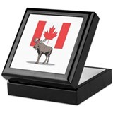 Canadian Flag with Moose Keepsake Box