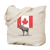 Canadian Flag with Moose Tote Bag