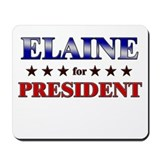 ELAINE for president Mousepad