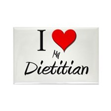 I Love My Dietitian Rectangle Magnet (10 pack)