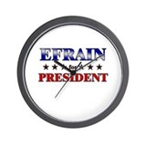 EFRAIN for president Wall Clock