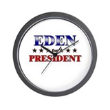 EDEN for president Wall Clock