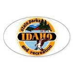 Idaho State Parks & Recreatio Oval Sticker